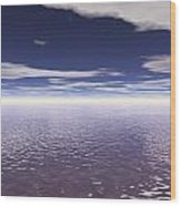 Water Horizon Wood Print