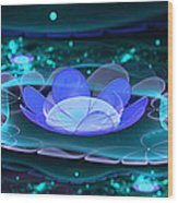 Water Lilies In Wonderland 2 Wood Print