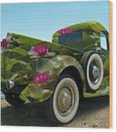 Water Lily Truck Wood Print