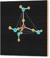 Water Molecule, Artwork Wood Print by Francis Leroy, Biocosmos