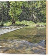 Water Over The Bridge Wood Print