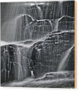 Water Over Wahconah Falls  Wood Print