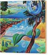 Water Planet Wood Print