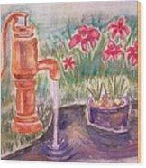 Water Pump Wood Print