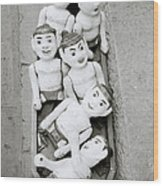 Water Puppets In Hanoi Wood Print