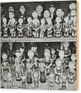 Water Puppets Wood Print