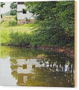 Water Reflections Wood Print