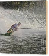 Water Skiing 14 Wood Print