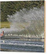 Water Skiing 4 Wood Print