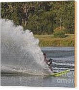 Water Skiing 6 Wood Print