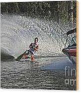 Water Skiing 8 Wood Print
