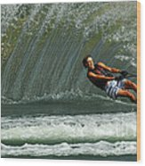 Water Skiing Magic Of Water 1 Wood Print