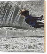 Water Skiing Magic Of Water 12 Wood Print