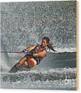 Water Skiing Magic Of Water 15 Wood Print