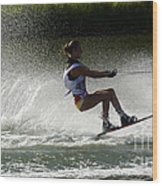 Water Skiing Magic Of Water 16 Wood Print