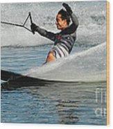Water Skiing Magic Of Water 22 Wood Print