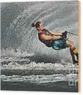 Water Skiing Magic Of Water 23 Wood Print
