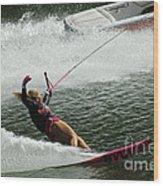 Water Skiing Magic Of Water 28 Wood Print