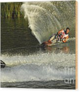 Water Skiing Magic Of Water 33 Wood Print