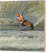Water Skiing Magic Of Water 4 Wood Print by Bob Christopher
