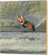 Water Skiing Magic Of Water 4 Wood Print