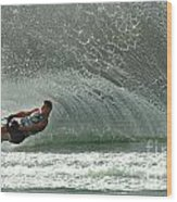 Water Skiing Magic Of Water 7 Wood Print by Bob Christopher