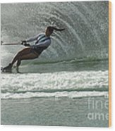 Water Skiing Magic Of Water 9 Wood Print