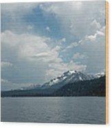 Water Snow Vapor Lake Tahoe Wood Print