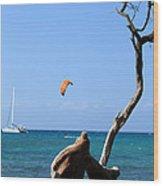 Water Sports In Hawaii 2 Wood Print