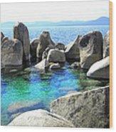 Water Stonehenge Lake Tahoe Wood Print