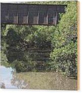 Water Under A Bridge Wood Print