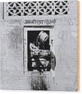 Water Vendor In Jaipur Wood Print