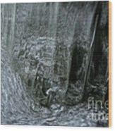 Water Wall And Whirling Bubbles Wood Print