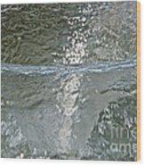 Water Wall Wood Print