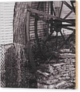 Water Wheel Old Mill Cherokee North Carolina  Wood Print