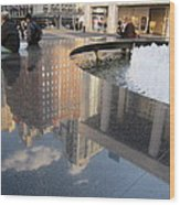 Lincoln Center Reflections Wood Print