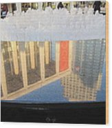 Lincoln Center Fountain Wood Print