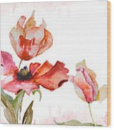 Watercolor Background Wood Print