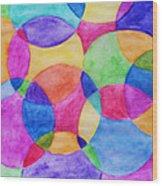 Watercolor Circles Abstract Wood Print