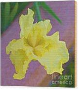Watercolor Iris Wood Print