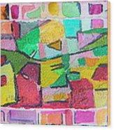 Watercolor Jazz Wood Print