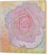 Watercolor Rose Wood Print