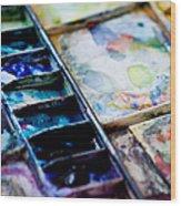 Watercolors Wood Print
