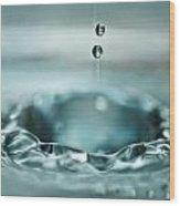 Waterdrop1 Wood Print