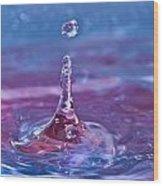 Waterdrop11 Wood Print