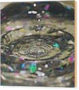 Waterdrop14 Wood Print