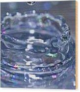 Waterdrop15 Wood Print