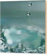 Waterdrop2 Wood Print