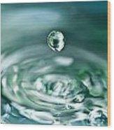 Waterdrop4 Wood Print