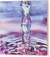 Waterdrop6 Wood Print